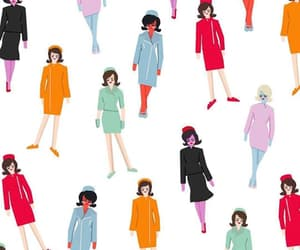 60s, Jackie Kennedy, and pattern image