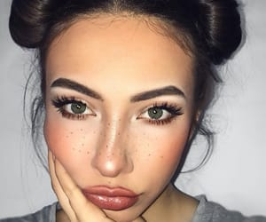 buns, freckles, and girl image