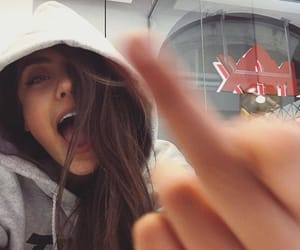 girl, high, and middle finger image