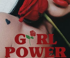 black hair, girl, and girl power image