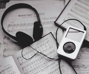 headphones, mp3, and songs image