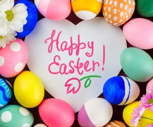 colorful, easter, and heart image