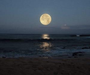 moon, photography, and sea image