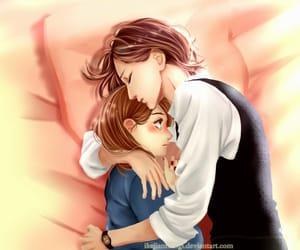 hug, manga, and manga girl image