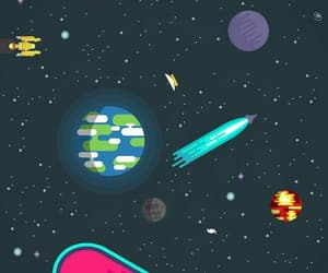 wallpaper, illustration, and planets image