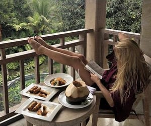 babe, blonde, and breakfast image