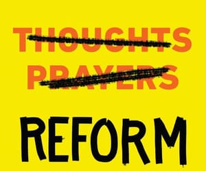 protest, reform, and gun reform image