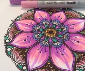 mandala, art, and colors image
