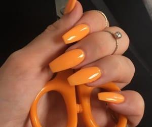 orange and nails image