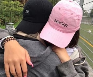 couple, cute, and hats image