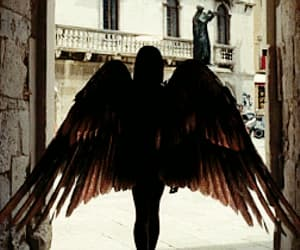 gif, angel, and wings image