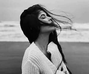 aesthetic, beauty, and black and white image
