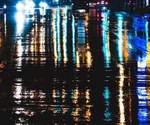 city, raining, and street photography image