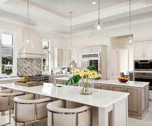 Blanc, décoration, and cuisine image