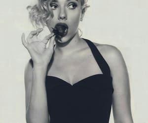 pretty, Scarlett Johansson, and strawberry image