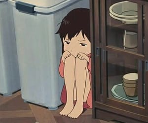anime, sad, and wolf children image