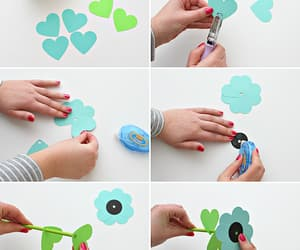 paper flowers and diy idea image