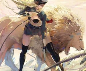 noragami, anime, and bishamon image