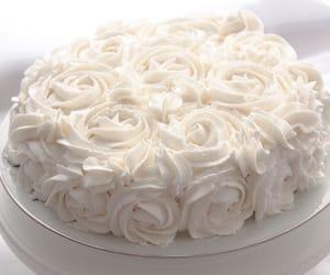 cake, rose, and food image