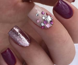 elegance, pink, and nailsdesign image