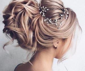 blonde, elegance, and hair image