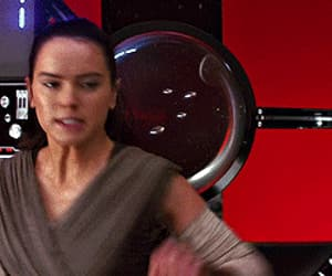 gif, star wars, and rey image