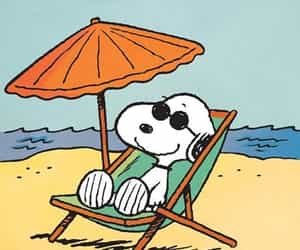 snoopy, summer, and beach image