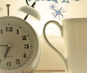 alarm, clock, and coffee image
