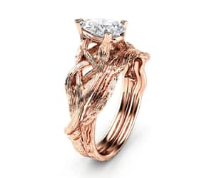 etsy, wedding rings, and rose gold ring image