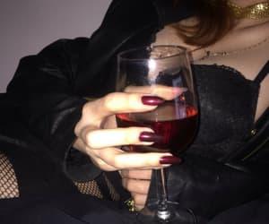 wine, black, and grunge image