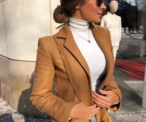 fashion, girl, and brown image