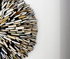 books, sculpture, and bookshelf image