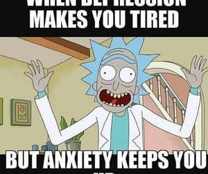 anxiety, depression, and tired image