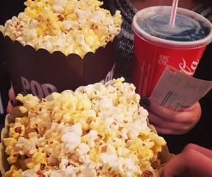popcorn, cinema, and food image