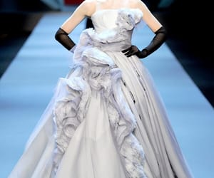 John Galliano, long dresses, and haute couture gowns image