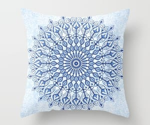 blue, cushion, and geometric image