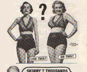 skinny, curves, and vintage image