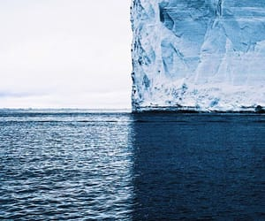 ice, blue, and ocean image
