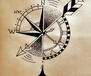 arrow, art, and clock image