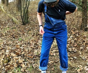 adidas, dungarees, and hipster image