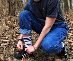 adidas, hipster, and overalls image