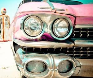 car, pink, and cadillac image