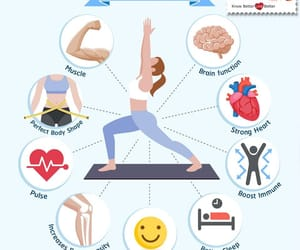 exercise, yoga, and healthcare image