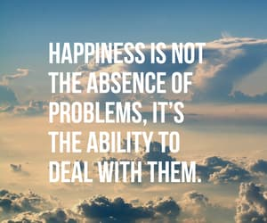 quotes, happiness, and problem image
