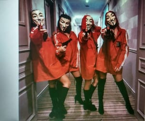 girl, lacasadepapel, and red image
