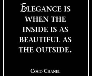 elegance, quotes, and coco chanel image