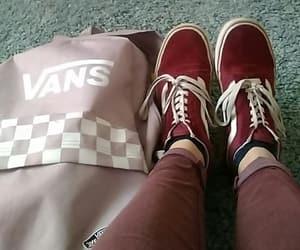 sneakers, vans, and school bag image