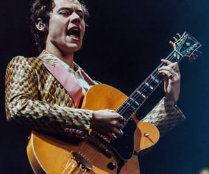 Harry Styles, concert, and guitar image