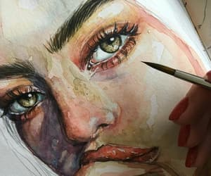 colorful, drawing, and woman image