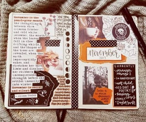 brown, diary, and spread image